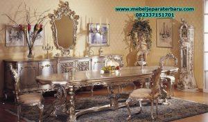 model meja makan klasik mewah terbaru barokko smm-162