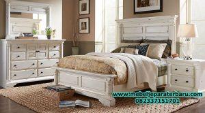 model set kamar tidur terbaru minimalis antik duco jepara stt-123