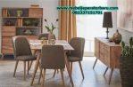 set meja makan 4 kursi modern minimalis model retro terbaru smm-167