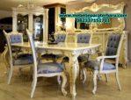 set meja makan 6 kursi mewah klasik erciyes model terbaru smm-166