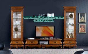set bufet tv akai klasik minimalis jati model terbaru bt-109