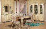 set meja kursi makan ukiran jepara klasik mewah smm-180