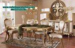 set meja makan mewah gold modern luxs smm-185