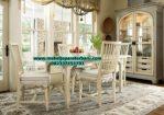 set meja makan minimalis kayu duco putih smm-183