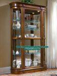 lemari kristal hias minimalis jati model terbaru lh-038