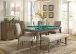model set kursi makan dan bangko minimalis modern smm-202