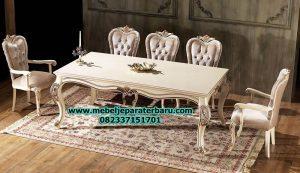 model set meja makan 6 kursi modern klasik duco terbaru smm-198