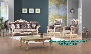 model sofa ruang tamu klasik mewah duco terbaru sst-233