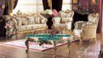 sofa ruang tamu model terbaru mewah klasik gold desain eropa sst-236