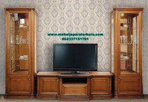 harga bufet tv jati gaya minimalis, set bufet tv, set bufet tv minimalis, set bufet tv duco