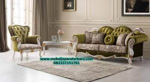 jual sofa tamu modern klasik, set sofa tamu mewah klasik, set kursi tamu jati minimalis