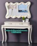 meja konsul dan pigura modern mewah, harga meja konsul jepara mr-118