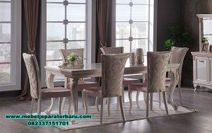 meja makan klasik ukir model eropa, set meja makan, set meja makan klasik, set meja makan mewah, set meja makan modern, set meja makan model terbaru