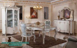 meja makan mewah klasik eropa ukiran, set meja makan, set meja makan klasik, set meja makan mewah, set meja makan modern