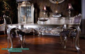 set meja makan silver klasik terbaru, set meja makan, set meja makan klasik, set meja makan mewah
