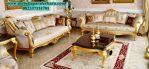 sofa set ruang tamu klasik mewah gold terbaru sst-254