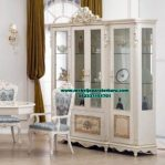 lemari pajangan kristal klasik duco selendang lh-045