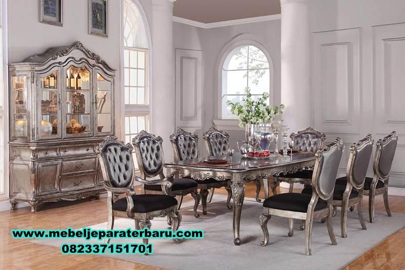meja makan klasik mewah silver terbaru, meja makan kayu, meja makan klasik mewah, meja makan mewah minimalis, meja kursi makan terbaru, model kursi makan terbaru, set meja makan modern, harga meja makan mewah, meja makan mewah modern