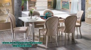 set meja makan modern minimalis olivia terbaru, set meja makan, set meja makan klasik, set meja makan mewah, set meja makan modern, set meja makan duco, set meja makan minimalis