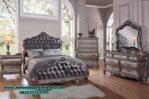 set tempat tidur klasik silver carera stt-144