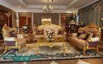 sofa ruang tamu gold klasik mewah terbaru sst-272