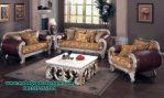 sofa ruang tamu modern ukir klasik terbaru sst-273