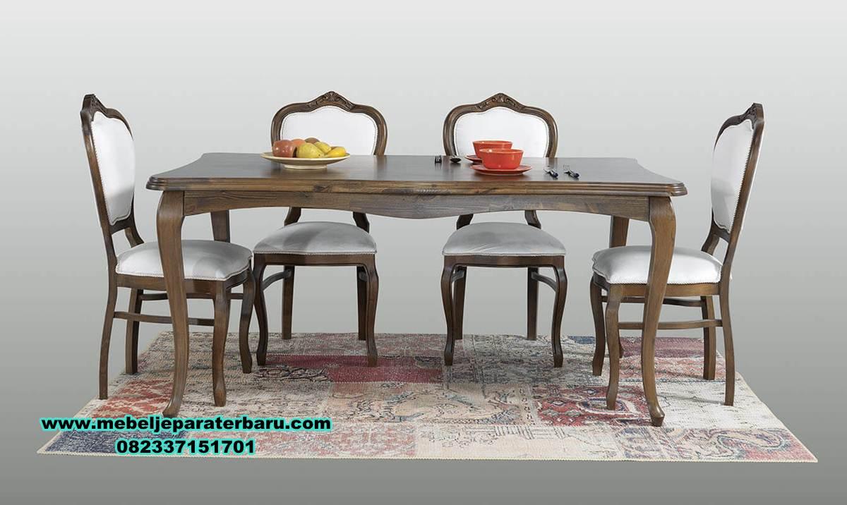 set meja makan kayu jati klasik model terbaru, set meja makan model terbaru, model set meja makan, set meja makan jati, set meja makan kaca, jual kursi meja makan, gambar meja makan, ukuran meja makan, meja makan kayu, meja makan klasik mewah