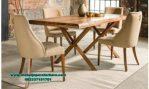 meja kursi makan jati modern minimalis madrid smm-263