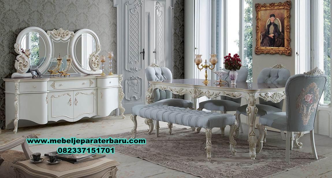 meja kursi makan mewah modern model eropa, set meja makan modern, harga meja makan mewah, meja makan mewah modern, set meja makan duco, meja makan minimalis modern, meja makan klasik mewah