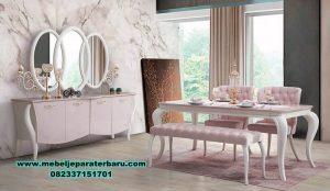 meja kursi makan modern mewah minimalis kaca smm-271