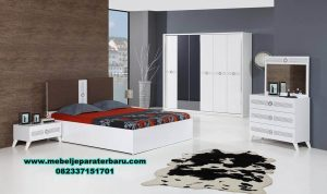 model set tempat tidur modern minimalis duco stt-151