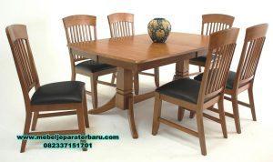 1 set meja makan 6 kursi minimalis jati smm-281