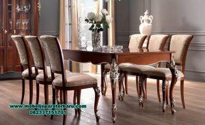 meja makan klasik mewah, meja makan mewah minimalis, meja kursi makan terbaru,set kursi makan, 1 set meja makan klasik mewah terbaru, meja makan mewah modern, set meja makan modern, set meja makan kaca