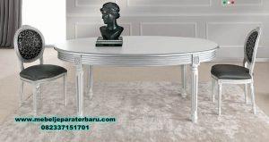 meja makan oval 4 kursi modern klasik smm-286