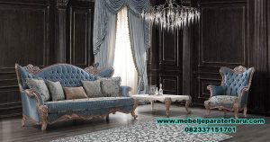 model sofa tamu klasik mewah eropa terbaru sst-300