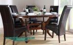set meja kursi makan jati minimalis mewah smm-277