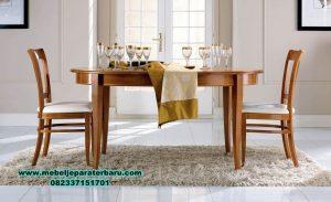 set meja makan jati minimalis modern 4 kursi smm-279