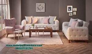 set sofa tamu modern minimalis jati sst-303