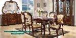jual set meja makan klasik jati mewah smm-294