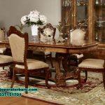 meja kursi makan klasik mewah terbaru jati, meja makan klasik mewah, model kursi makan terbaru, set meja makan model terbaru, meja makan minimalis modern, model set meja makan, set meja makan jati