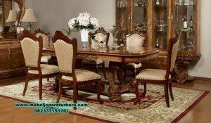meja kursi makan klasik mewah terbaru jati smm-291