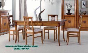 set meja kursi makan kayu jati minimalis smm-289