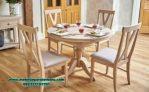 set meja makan kayu minimalis 4 kursi smm-288