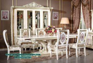 gambar satu set meja kursi makan klasik ukir smm-299
