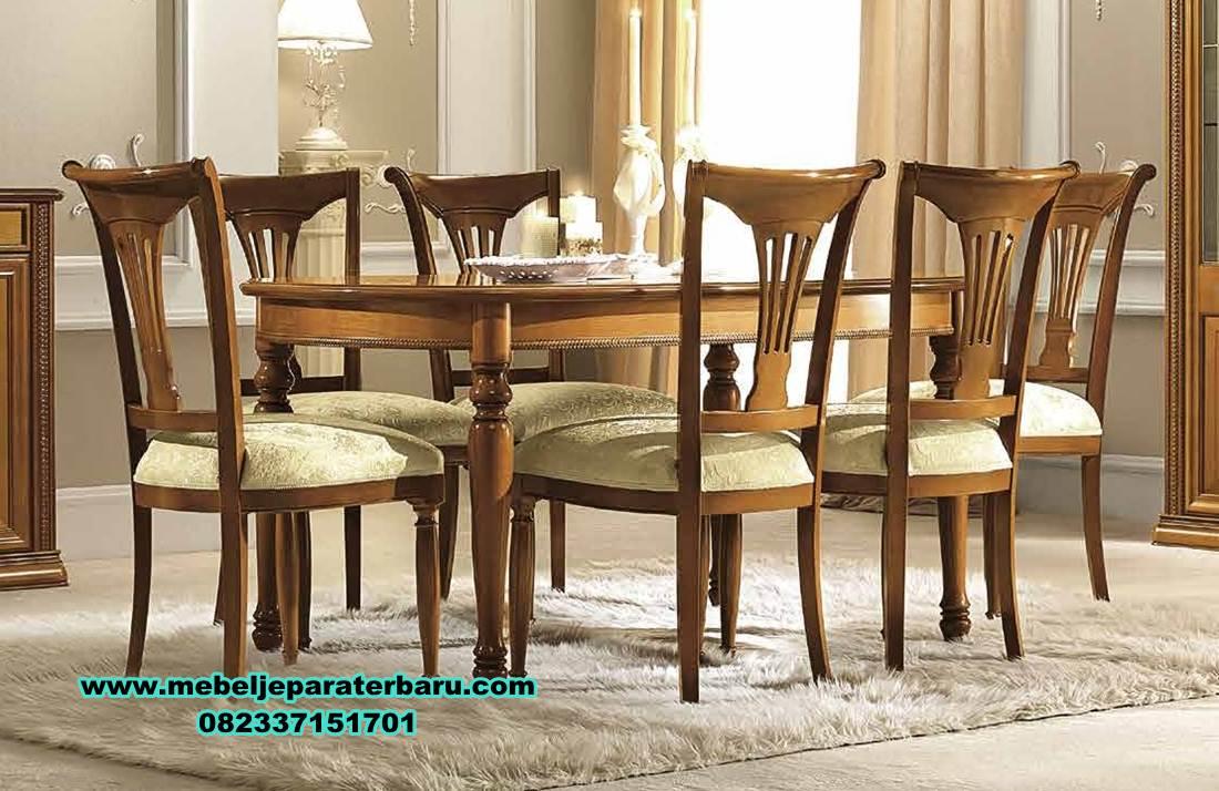 meja makan minimalis modern, satu set meja makan 6 kursi klasik jati, set meja makan jati, meja makan kayu, meja makan klasik mewah, meja makan mewah minimalis, model kursi makan terbaru