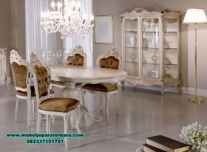 satu set meja makan modern model klasik smm-296