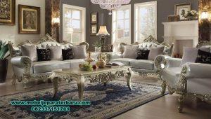 satu set sofa ruang tamu klasik ukir mewah sst-311