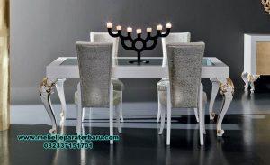 gambar meja makan modern mewah kaca terbaru smm-307
