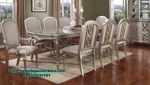 set meja makan kaca 8 kursi modern terbaru smm-310