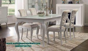 set meja makan kaca minimalis modern terbaru smm-308